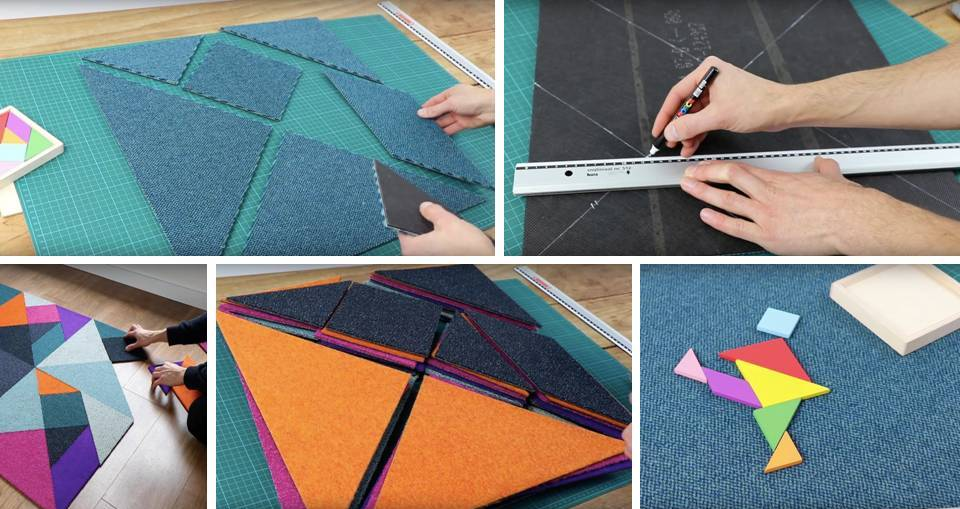 DIY puzzled rug