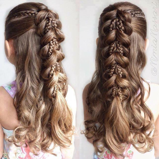 hairstyle waterfall