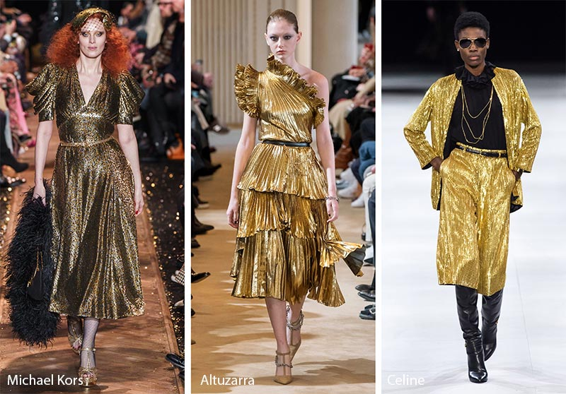 gold accent in fashion industry