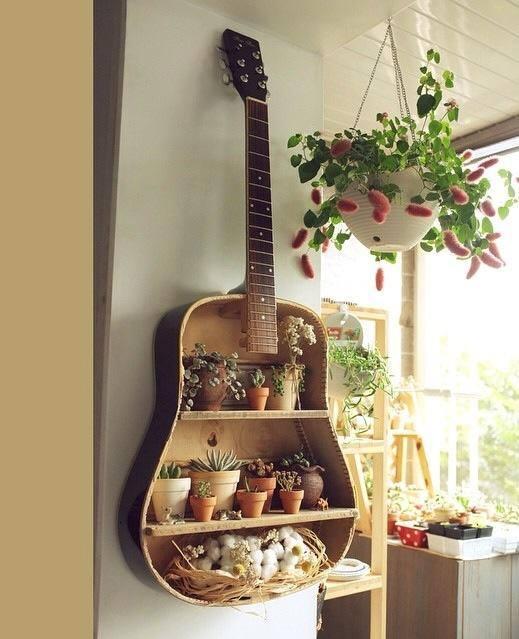 guitar vertical garden