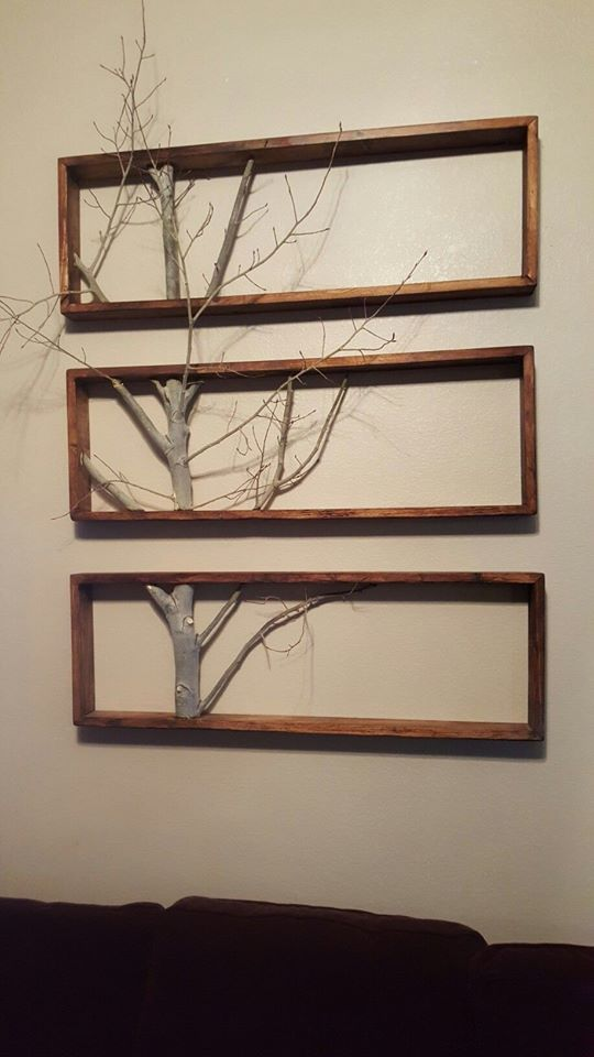 framed tree branch wall art