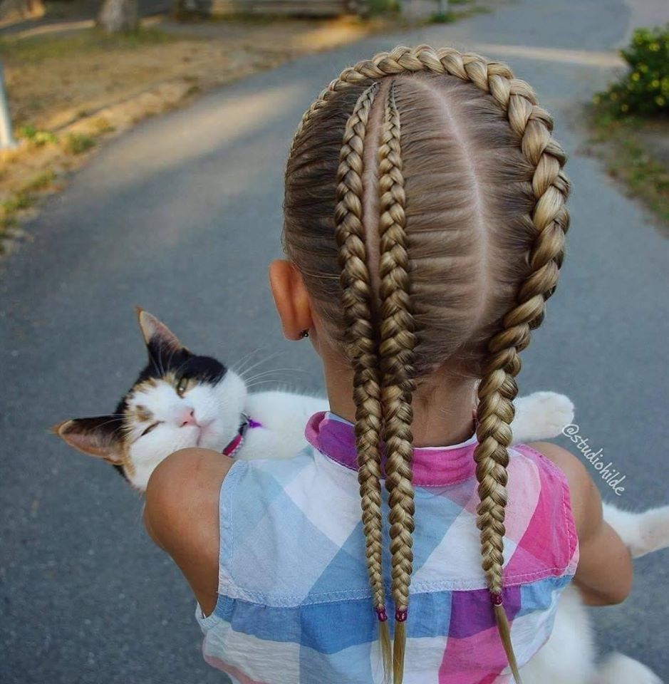 little girl's braids