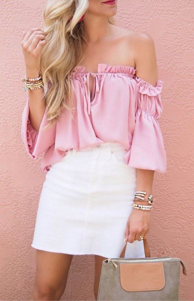 pink and white combination