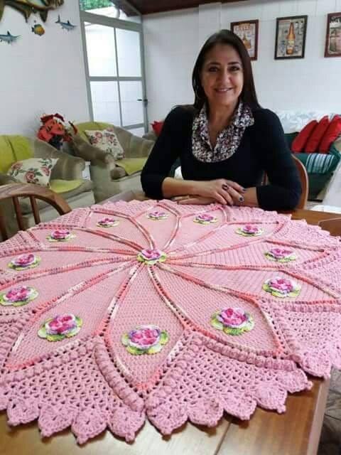 pink crochet
