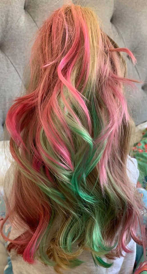 coloring hair at home